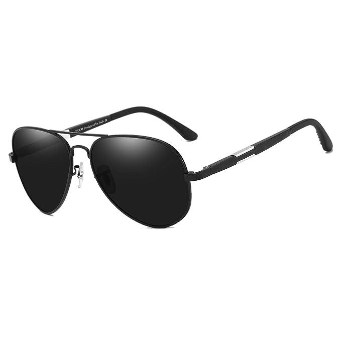 a97afbdf1c83 Duco Polarized Pilot Sunglasses Mens Womens for Outdoor Sports Fishing Golf  3026 (Black Frame Grey Lens)  Amazon.co.uk  Clothing