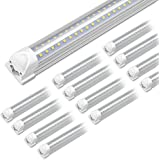 (12-Pack) Kihung 8ft LED Shop Light Fixture, 75W, 9750lm, 6000K, 96'' T8 Integrated LED Tube, 8 Foot Linkable LED Bulbs for G