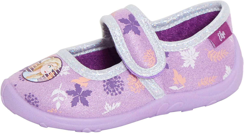Disney Fille 2 Pantoufles Escarpins Ballerines /à enfiler Chaussures de maison Elsa Anna