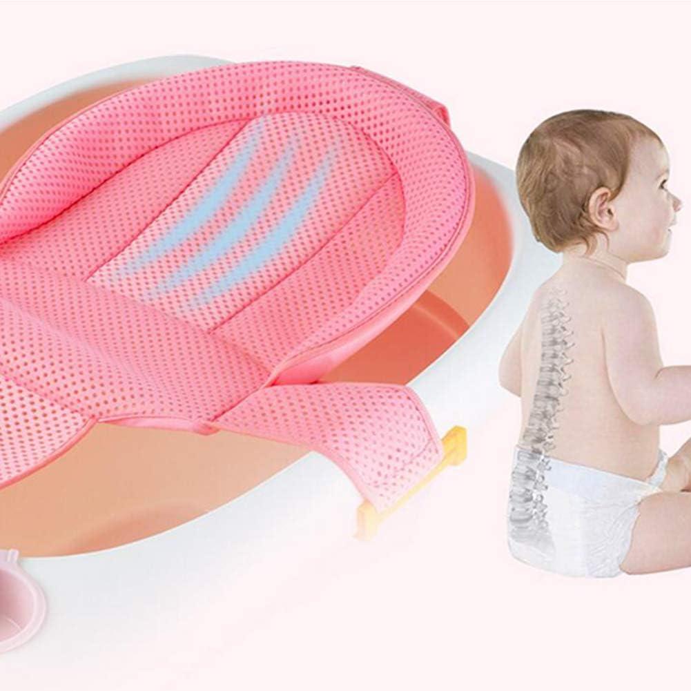 Baby-Bad-Unterst/ützung Sitz Newborn Dusche Mesh f/ür Badewanne Adjustable Bequeme Non Slip Badesitz f/ür Baby-Blau 1PC