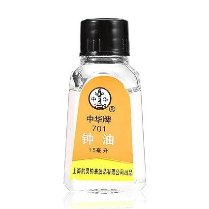 Sonew Relojes Aceite lubricante, aceite 100% sintético para lubricar los relojes de su abuelo
