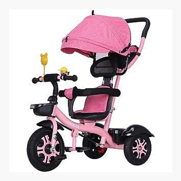 Bicicleta de Tres Ruedas para niños Cochecito de bebé Bicicleta de la Muchacha DE 2-6 años (Color : Pink): Amazon.es: Hogar