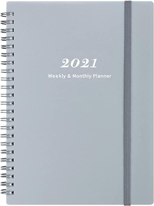 2021 Planner - Weekly & Monthly Planner with Tabs 6.25