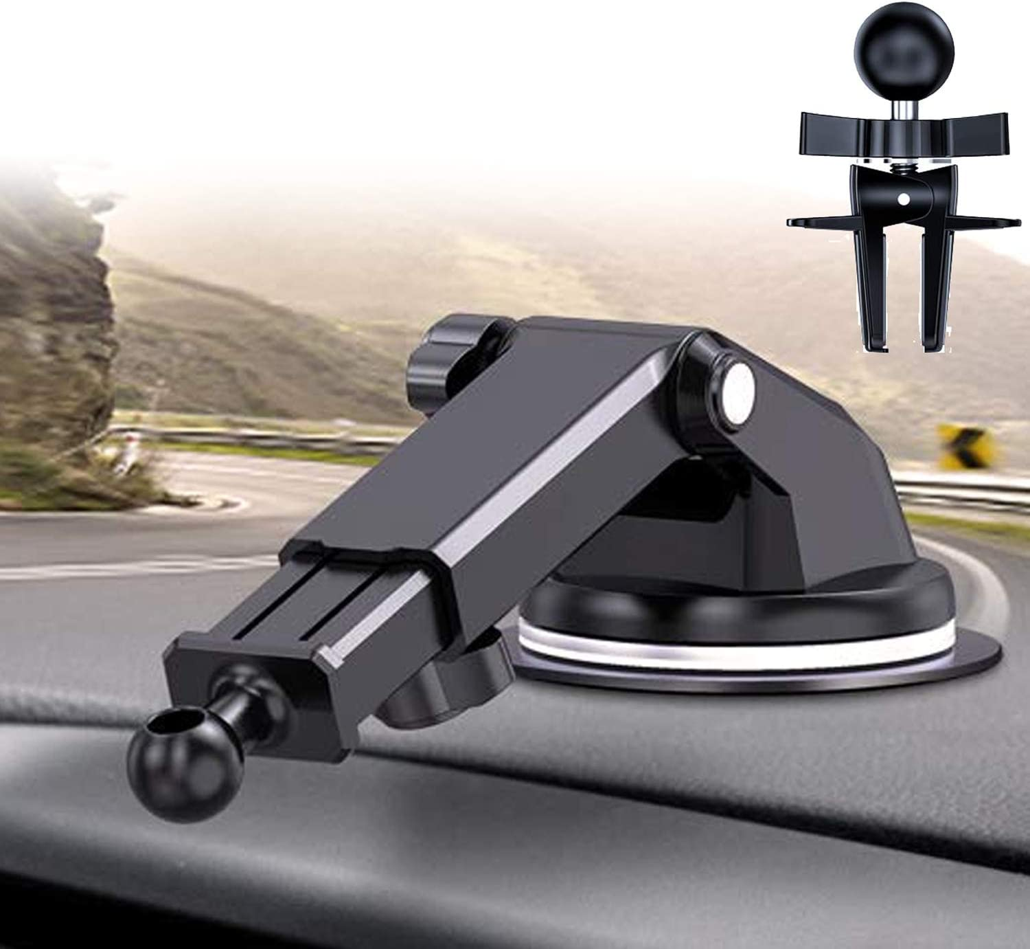 DesertWest Replacement Gel Pad Suction Cup with Adjustable Long Arm for Car Phone Mount Car Phone Holder /& Air Vent Clip