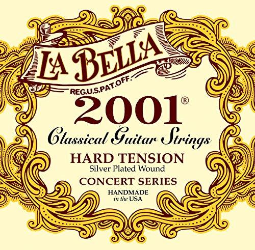 La Bella 2001 Series Classical Guitar Strings Hard Tension from La Bella