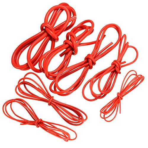 1 Meter Red Silicone Wire Cable 10/12/14/16/18/20/22AWG Flexible Cable (Nylon Vacuum Flexible Tubing)