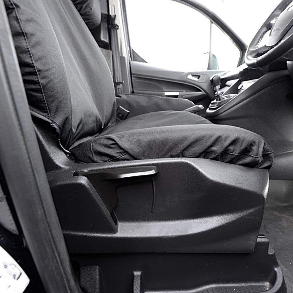 Black UK Custom Covers SC395B Tailored Heavy Duty Waterproof Single Drivers Seat Cover