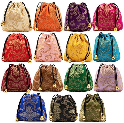 Drawstring Embroidered Organizers Necklaces Bracelets product image