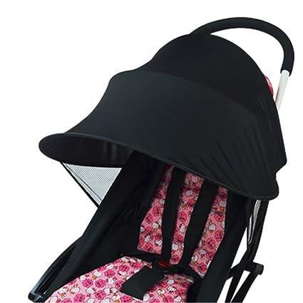 Parasol universal para cochecito de bebé, protección contra rayos UV, contra el viento y