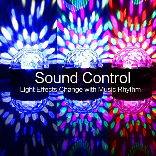 YouOKLight Sound Activated 6 Color LED Music Crystal Magic Ball MP3 Disco DJ Stage Lighting with Remote Control for Home Room Dance party Birthday Gift Kids Club Wedding Decorations by YouOKLight (Image #8)