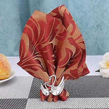 ANTEER Anillos servilleteros Juego de 6 – Prácticos Aros para servilletas de Acero Oro – Elegantes
