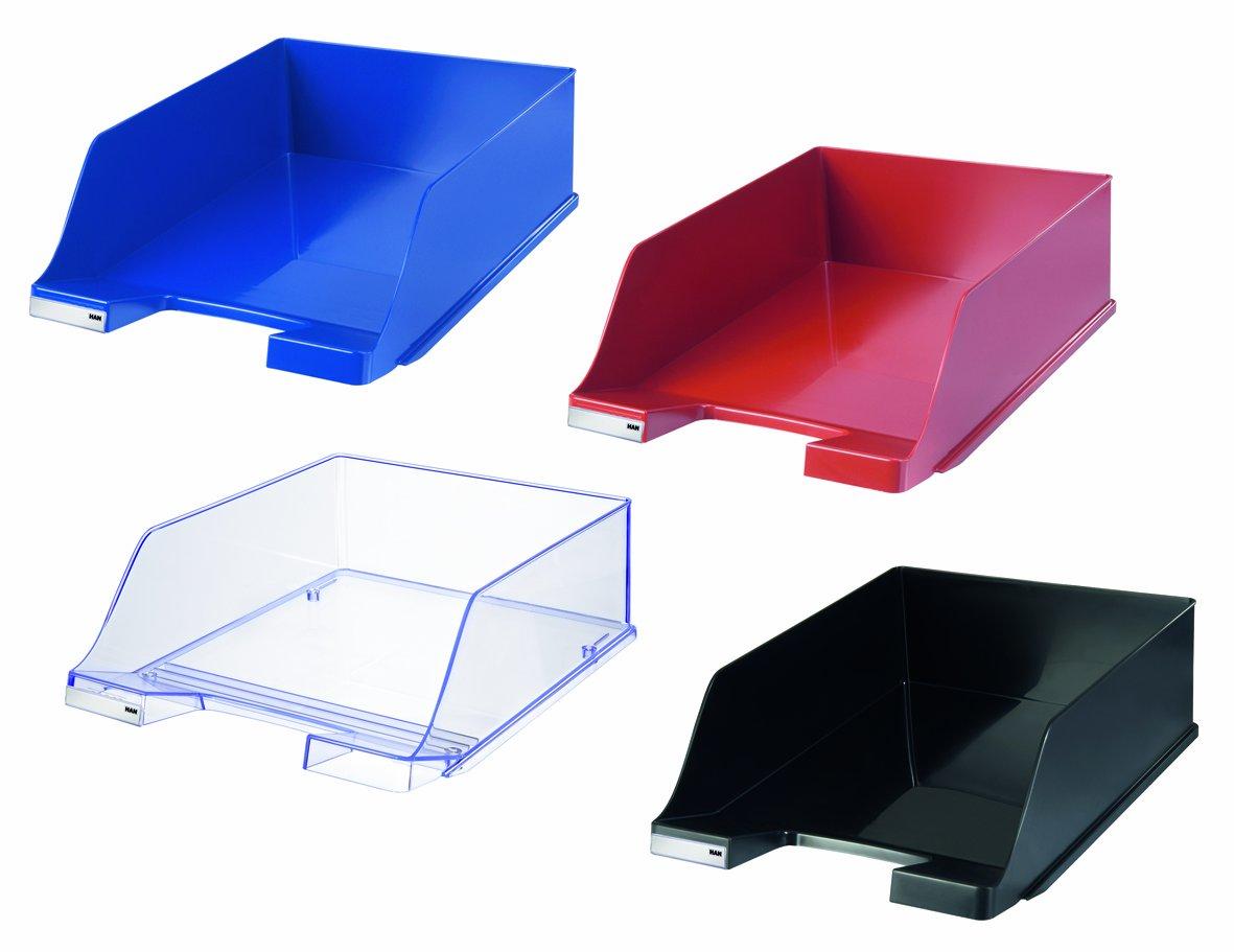 corbeille /à courrier KLASSIK XXL /él/égante et look haute brillance extra-haute rouge moderne Lot de 2 unit/és HAN 1047-17