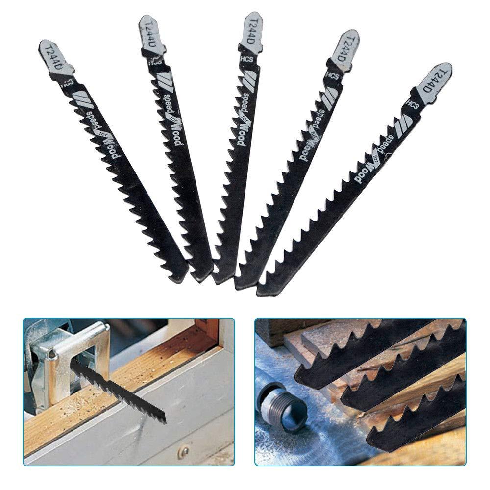 Zubehör Stichsägeblätter Schleifen Schnell Schneiden Holz Set T244D Pack
