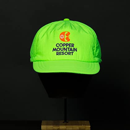 223d4459be7 ... Yupoong Vintage Ski Resort Hat - Copper Mountain Scrunch Back Neon Green  ...