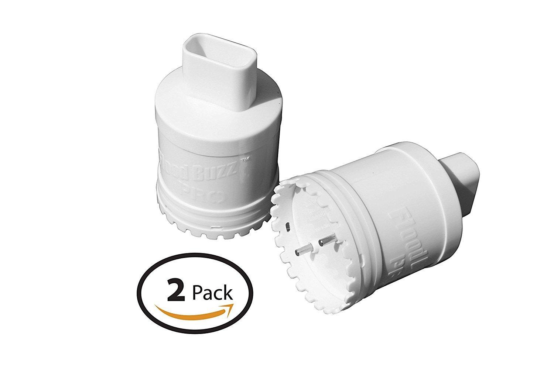 Water Leak Detector Alarm , Flood Buzz Pro ( 2 Pack ) Flood Sensor by Flood Buzz