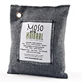 #3: Moso Natural Air Purifying Bag. Odor Eliminator for Cars, Closets, Bathrooms and Pet Areas. Captures and Eliminates Odors. Charcoal Color, 200-G