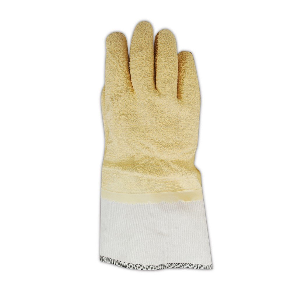 Magid Glove & Safety 4595 Magid MultiMaster Latex-Coated Kevlar and Jersey Gloves, 10, Natural , 10 (Pack of 12)