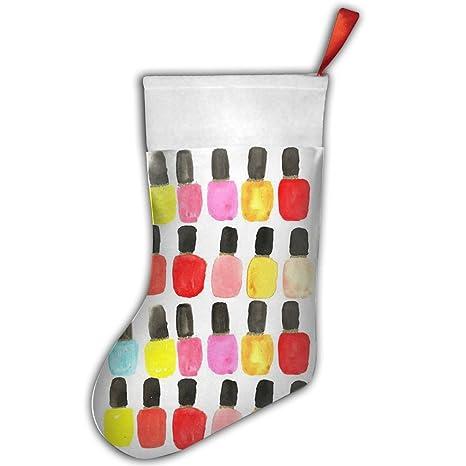 Cute Fun de uñas personalizado blanco para decoración de Navidad medias de Navidad para decorar unas