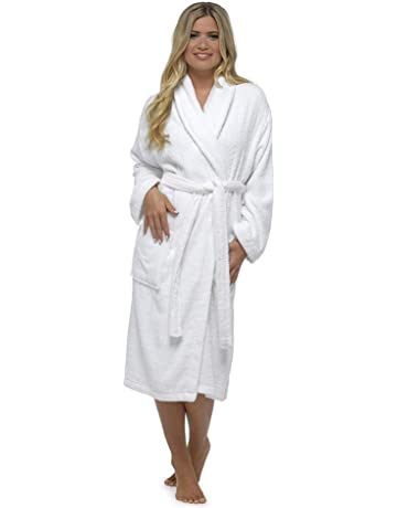 577e23e1ed Ladies Robe Luxury Terry Towelling Cotton Dressing Gown Bathrobe Highly  Absorbent Women Hooded and Shawl Towel
