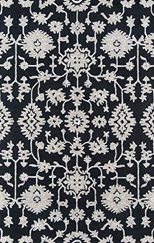 Momeni VALENVAL-4CHR2030 Valencia Collection Area Rug, 2' x 3', Charcoal