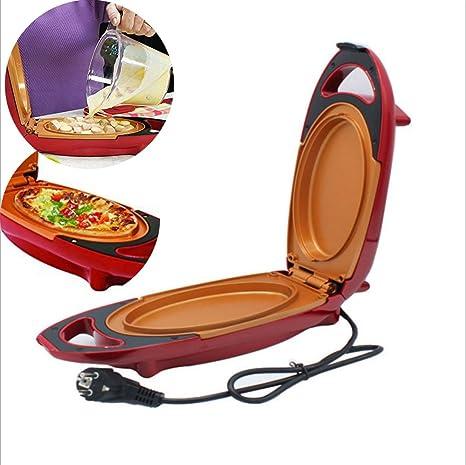 Sartén para Pizza eléctrica Red Copper de 5 minutos de chef de eléctrico de sartén de