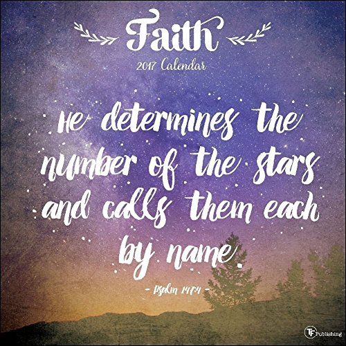 TF Publishing 17-1134 2017 Faith Wall Calendar