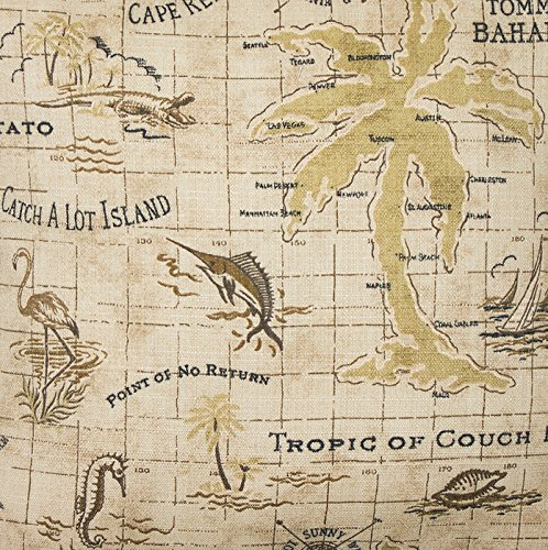 Outdoor Fabric Upholstery Fabric Tommy Bahama Fabric by the Yard Nautical Island Map 54