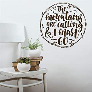 Vinyl Removable Wall Stickers Mural Decal The Mountains Are Calling And I Must Go For Bedroom Living Room Nursery Kids Room