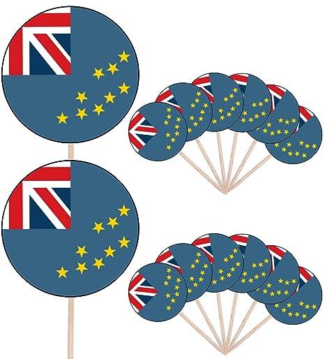 Bandera de Aruba - 24 comestible cupcake toppers/adornos de ...