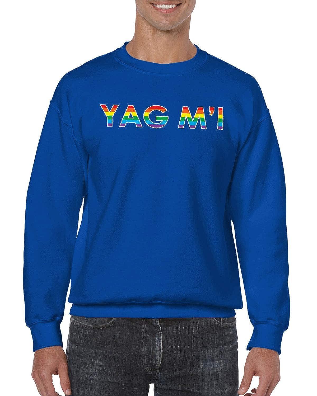 SpiritForged Apparel Yag MI Im Gay Backwards LGBT Pride Unisex Crewneck Sweater