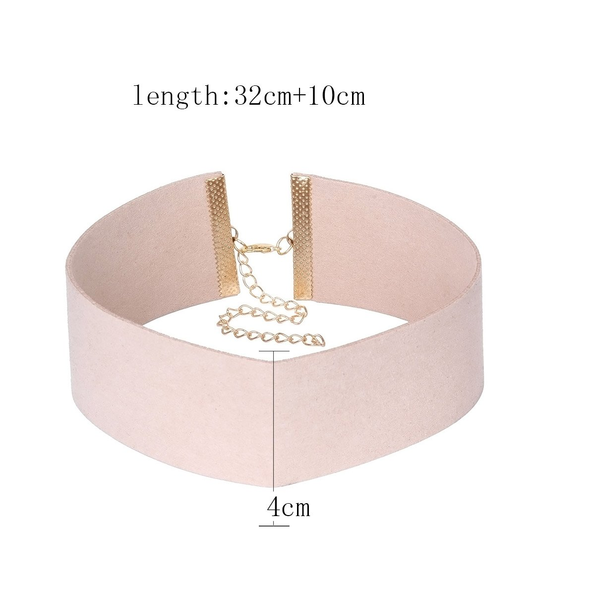 Tpocean 3 PCS Fancy Black Grey and Pink Thick Womens Choker Necklace Set for Girls