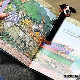 (7) Noah\'s Ark Animal Bookmarks - Children Kids Pet Farm Zoo Jungle Safari Plush Page Markers Set