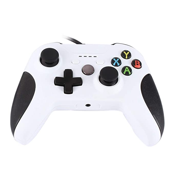 JAMSWALL Xbox One Mando Controller, Controlador Joystick Gamepad para Xbox One S y PC con Windows (Blanco): Amazon.es: Electrónica