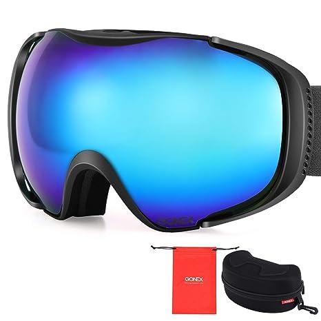 253f432953ec Gonex Polarized Ski Goggles Anti-Fog Anti-Glare Snow Goggle UV400  Protection with Oversized