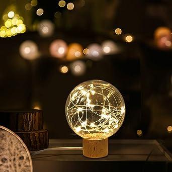 Décoration Domestique Nuit De En Hêtre Avec LedLumière Lampe Pièce Pour Bois Excellente Support D'humeur La Usb L3AR45jq