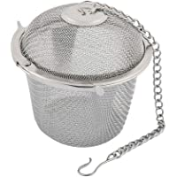 Uotyle Tea Infuser Ball Mesh Tea Balls Strainers Stainless Steel Cooking Infuser Rust Resistant with Chain Hook for Loose Leaf Tea Seasoning Spices Herbs