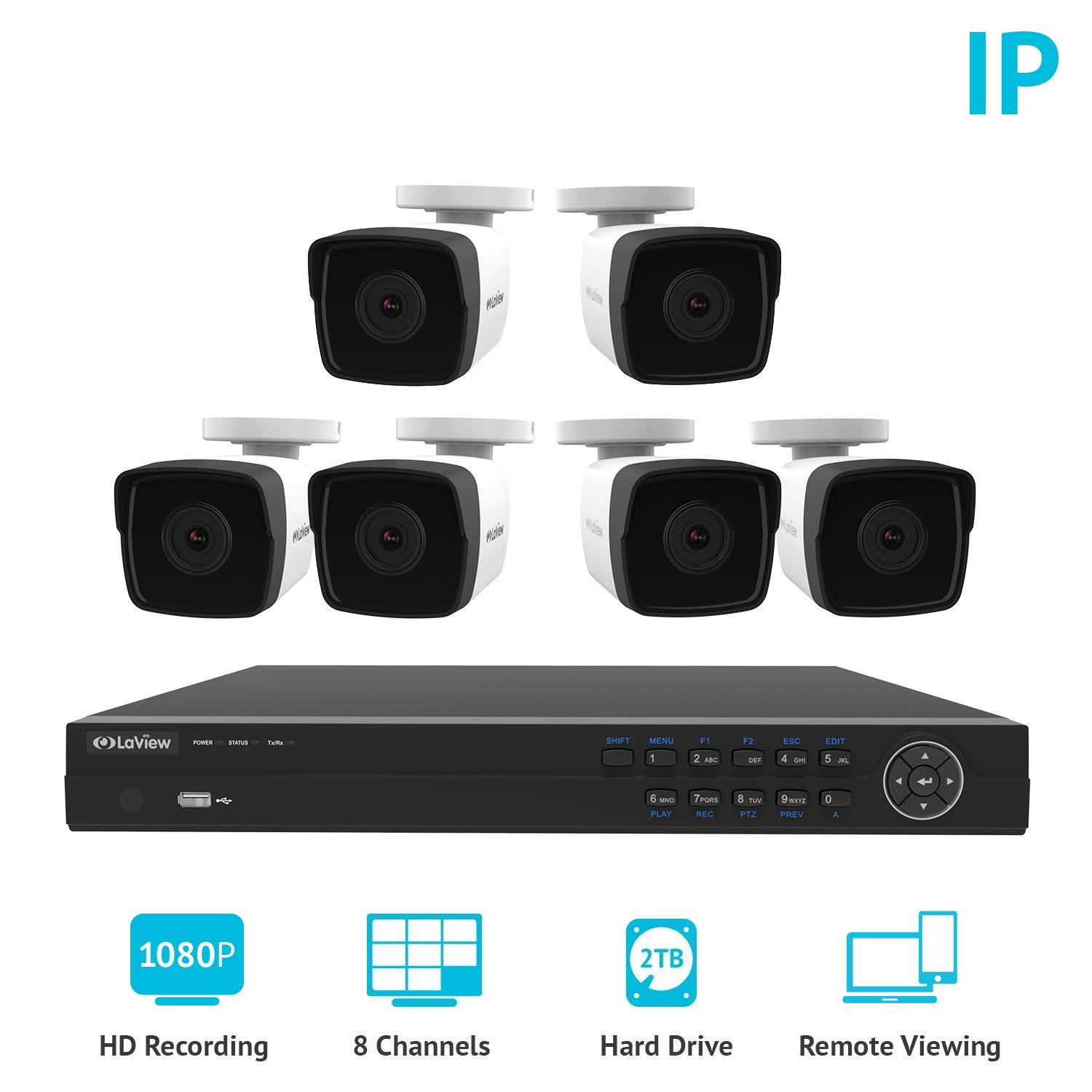 a place to call home complete series 4 camera advance pro series cctv installation cctv Laview 1080p home security camera system, 8 channel NVR recorder with 2TB  hard drive, 6 bullet 1080p waterproof IP66 security system cameras,  indoor-outdoor ...