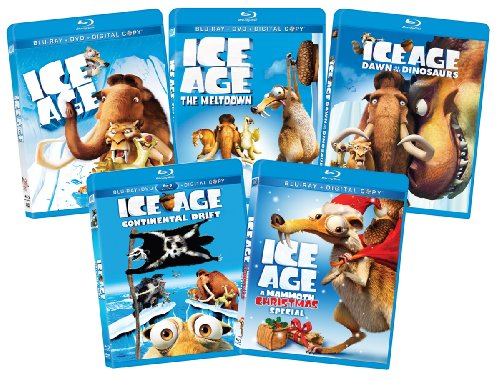 Ice Age 1-4 Collection + Ice Age Christmas [Blu-ray] (Movie 4 Set Age Ice)