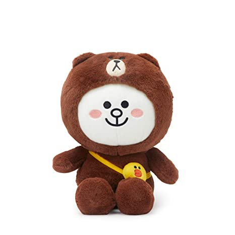Amazon.com  LINE FRIENDS Plush Standing Doll - CONY in Brown Character  Costume Soft Toy Figure 10 Inches 02282f19af
