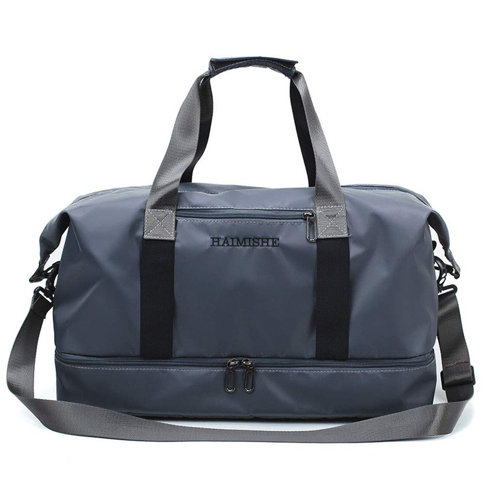 Gym Bag with Shoe Compartment Dance Bag Duffle Tote Shoulder Bag for Men and Women Messenger Travel Water Resistant Bags (gray)