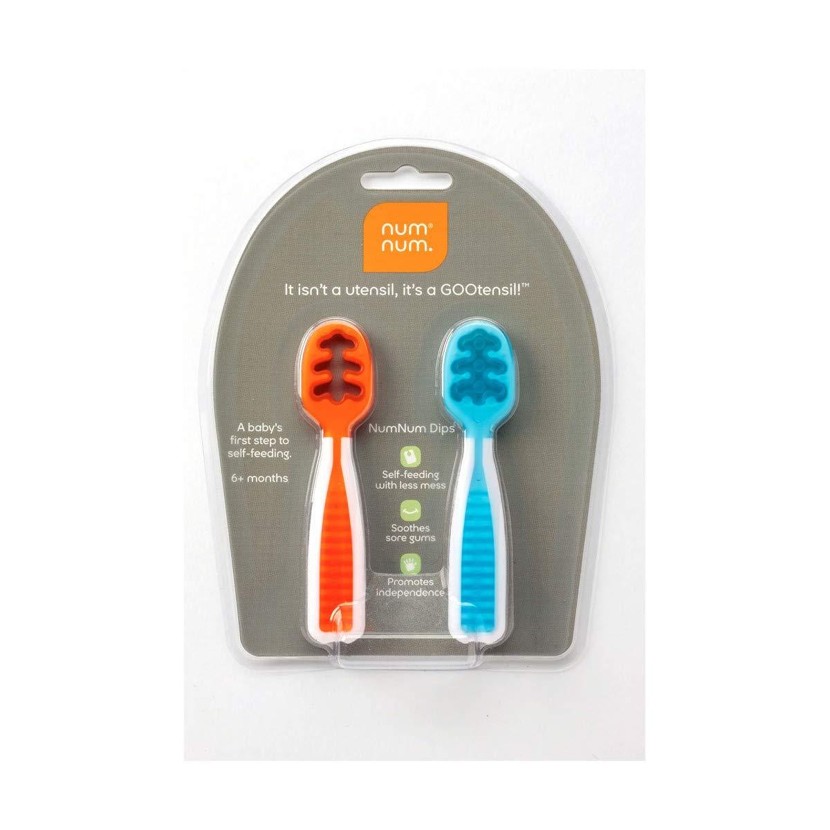 NUMNUM - Pack 2 pre-cucharas NumNum azul y naranja - N-NUM100