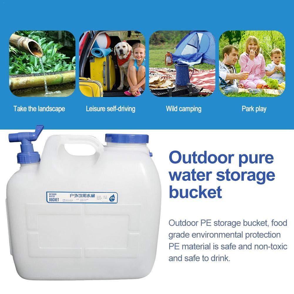 Sroomcla Plastikeimer Dicker PC Wassertank Abfluss Wasserhahn Fest Camping Reservoir Lebensmittelqualit/ät Tragbare Mineralnahrung