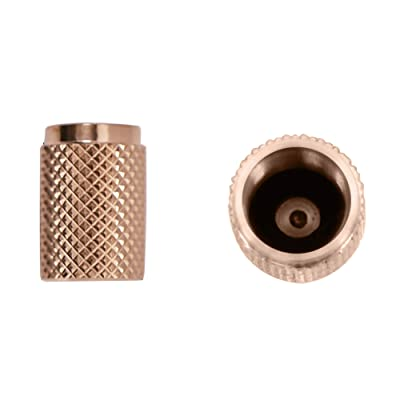 Divoti Precision CNC Machined Stainless Steel Tire Air Valve Caps, Wheel Tyre Stem Covers for Cars - Heavy-Duty, Airtight Seal, Textured Design, Screw-On, Dust-Proof - 1 Pairs - Rose Gold: Automotive