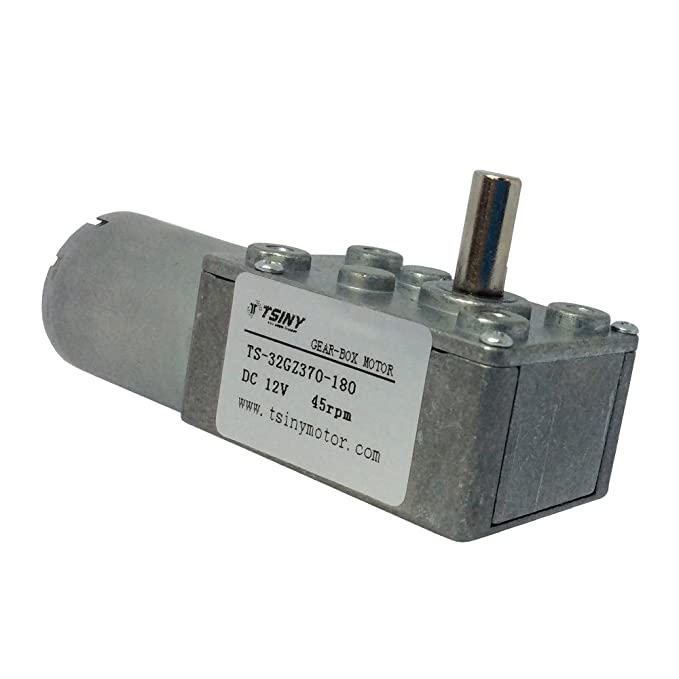 BEMONOC Small 12V Low Speed Motor 9 RPM High Torque Worm Geared Reducer  Motor with Metal Gear Box