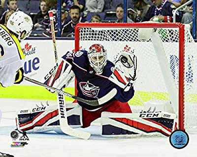 "Sergei Bobrovsky Columbus Blue Jackets 2017-2018 NHL Action Photo (Size: 8"" x 10"")"
