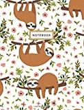 Notebook: Sloth White Notebook (Composition Book, Journal) - Best Reviews Guide