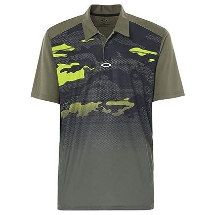 b76ce103 Amazon.com : Oakley Men' Deep Rough Camo Polo : Sports & Outdoors