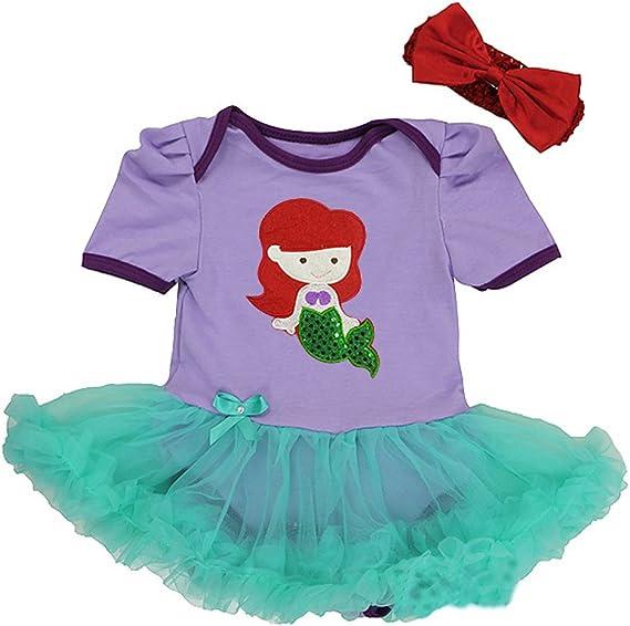 Disney - Vestido para bebé, para disfraz, diseño de Ariel, la ...
