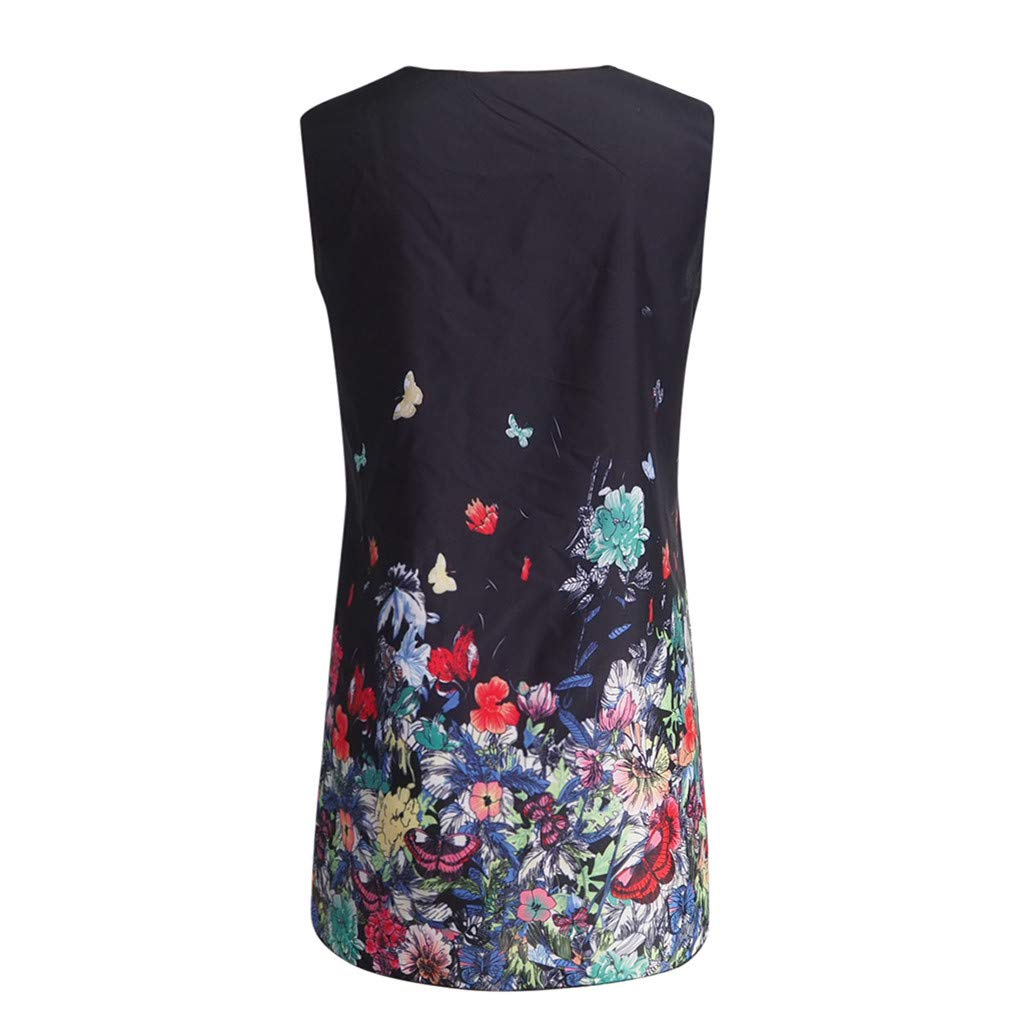 6fae71f3f5 Amazon.com  Birdfly Summer Women 3D Lifelike Owl and Abstract Painting  Print Sundress Dress Skirt  Clothing