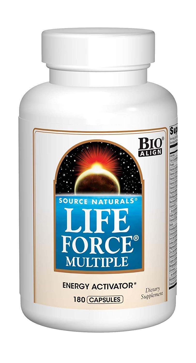 Source Naturals Life Force Multiple Daily Multivitamin High Potency Essential Vitamins, Minerals, Antioxidants & Nutrients - Energy & Immune Boost - 180 Capsules